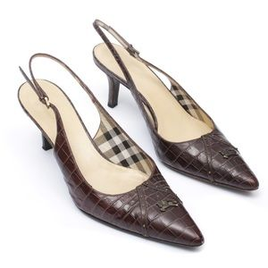 Burberry Slingback Pumps
